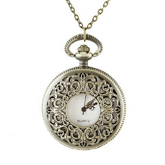 Fashion Hollow-out Number Pendant Pocket Watch with Metal Long Chain