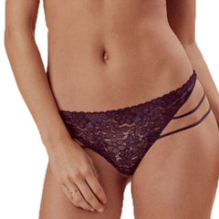 MISSOMO Sexy Lace Perspective Thong Purple