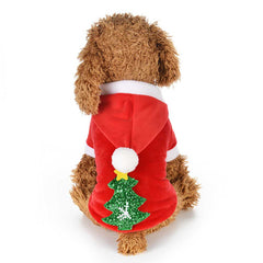 Christmas Pet Supplies Snow Tree Dog Winter Clothing