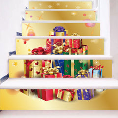 Christmas Gifts Print Removable Stair Stickers