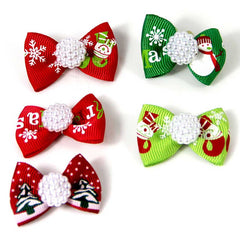 5 Pieces Christmas Pet Decorations Lovely Multicolored Headdress