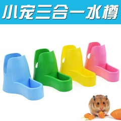 Pet Water Plastic Drinking Fountains Totoro Rabbit Hedgehog Cooling House Utensils Bracket Food Bowl