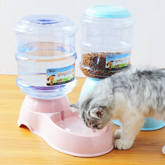 Dog Automatic Drinking Fountains Pet Cat Automatic Feeding Device Cat Dog Food Bowl Water Bowl