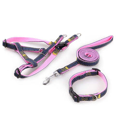 3 Pieces Fashion Pet Cowboy Tow Rope Collar and Chest Straps