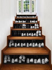 3D Shoe Cabinet Printed Removable Stair Stickers