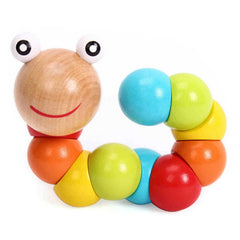 Creative Wood Simulation Caterpillar Children Educational Toy