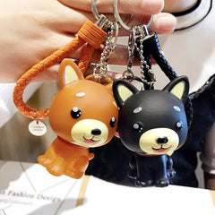 Creative Cartoon Shiba Inu Law Dog Keychain Men And Women Bags Pendant