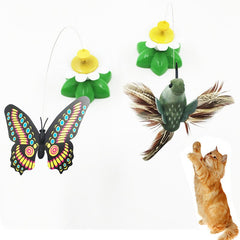 Electric Cat Toy Butterfly Bird Automatic Rotation Funny Cat Toy Funny Cat Stick
