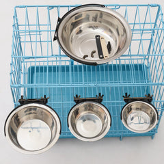 Fixed Way Hanging Stainless Steel Pet Bowl
