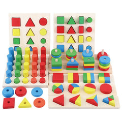 Eight-in-one Combination Early Education Teaching Aids Children Early Education Building Blocks Asse