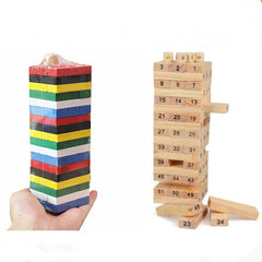 54 Pieces Of Primary Color Children's Stacks Of High-rise Blocks Layered Drawing Music Puzzle Color