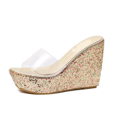 Women's Wedge Mule Slippers Casual Shoes