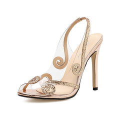 Women's Peep Toe Stiletto Sandals Chic Party High Heels
