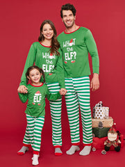 Letter Print Christmas Parent Child Loungewear Set
