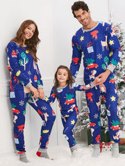 Christmas Cartoon Animal Print Family Pajama Sets