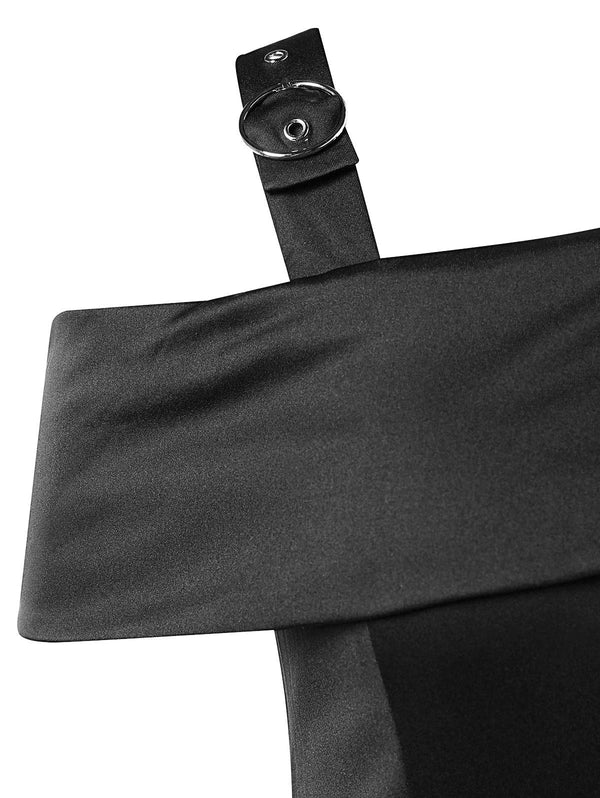 High Rise Side Slit Sheath Dress