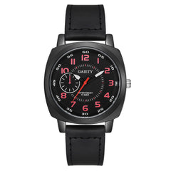 Men'S Double Scale Leisure Fashion Monocular Four Stitches Quartz Watch