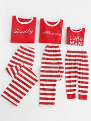 Letter Print Parents Kids Christmas Pajama