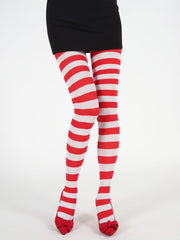 Christmas Striped Pattern Elastic Leggings