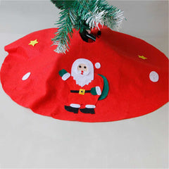 Christmas Decorations Non-Woven Fabrics Old Man Applique Tree Apron