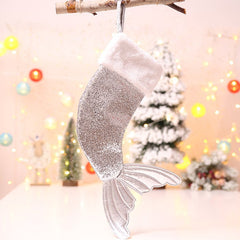 Christmas Decorations 18 Inch Sequins Christmas Stockings Fishtail Christmas Stockings Gift Bags