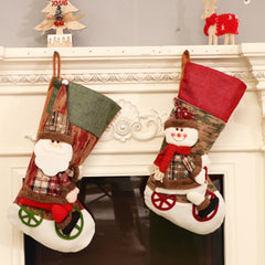 Christmas Stockings Three-dimensional Wheel Christmas Stockings Christmas Socks Christmas Gift Bags