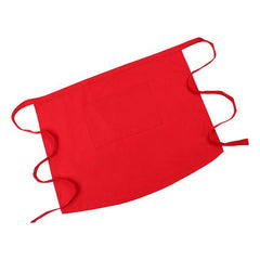 Durable Wear-resistant Half-waist Apron with Pocket for Restaurant Kitchen Staff