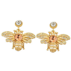 New Hot Selling Creative Diamond Crystal Bee Earrings European And American Temperament Net Red Earr