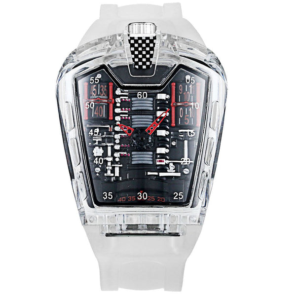 KIMSDUN K - 725D Men Transparent Waterproof Quartz Watch