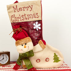 Large Three-dimensional Christmas Stockings Christmas Sock Gift Bags Christmas Candy Bags Christmas