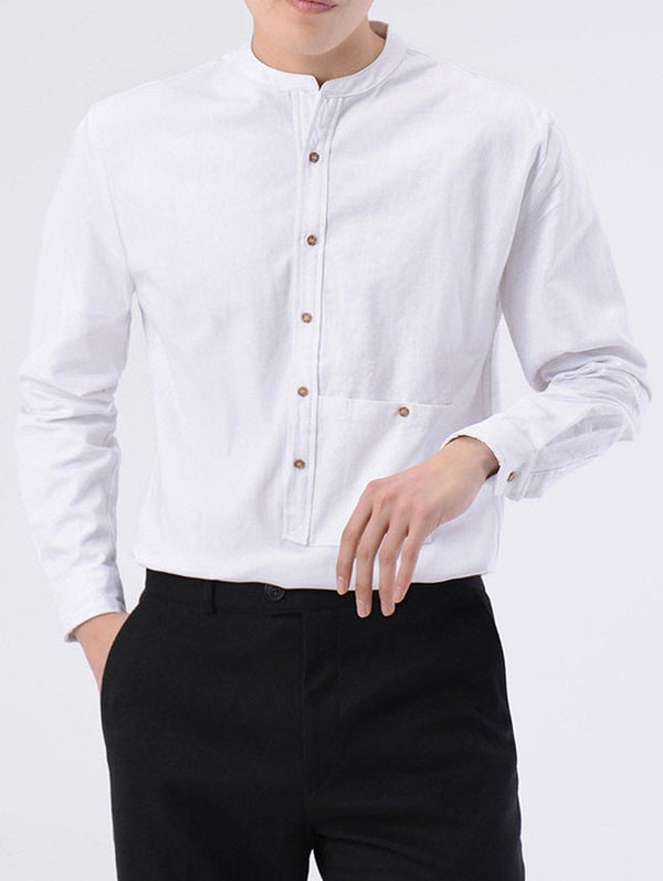 Pocket Design Button Up Shirt