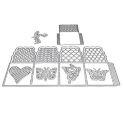 1 - LF7864 Silver Carbon Steel Die - Butterfly Box