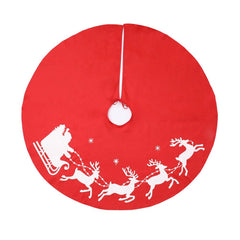 Christmas Decorations Elk Red 1 Meter Tree Apron