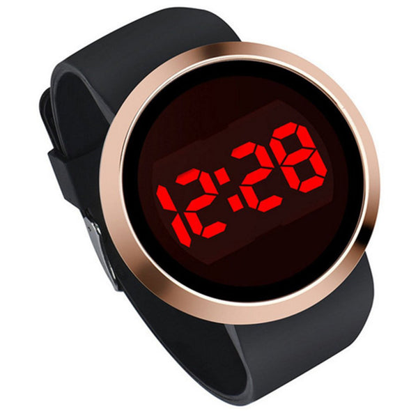 Seasonal LED Alloy Fashion Electronic Men'S Watch