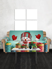 Christmas Snowman Gifts Pattern Couch Cover
