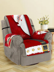 Christmas Elk Santa Claus Pattern Couch Cover