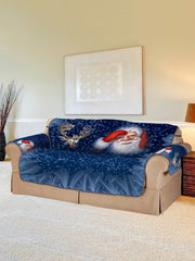 Christmas Elk Santa Pattern Couch Cover