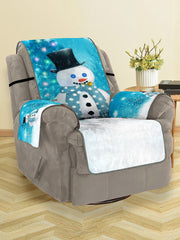 Christmas Tree Snowman Pattern Couch Cover