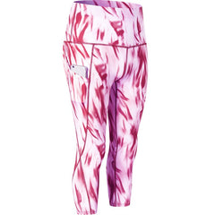 Printed High Waist Slant Pocket Yoga Wicking Tight 7 Pants