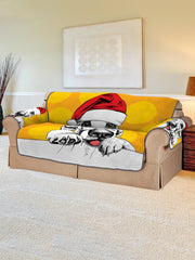 Christmas Dog Pattern Couch Cover