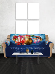Christmas Balls Gifts Pattern Couch Cover
