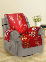Christmas Tree Santa Pattern Couch Cover