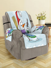 Christmas Snowman Bird Pattern Couch Cover