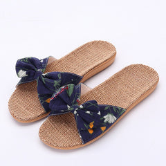 Ladies' Thick Bottomed Anti Slippery Lady Lovely Bow Tie Indoor Slippers.