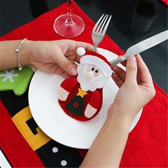 Christmas Cutlery Forks Bags Kitchen Decorative Pouches Party Gifts