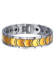 Stainless Steel Arrow Band Magnet Bracelet