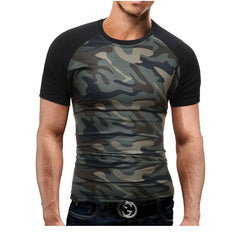 Men'S Short Sleeved Shoulder Sleeves Fashion Short Sleeved T-Shirt