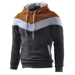Men's Plus Size Sports Active Long Sleeve Slim Hoodie  Color Block Turtleneck