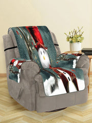 Christmas Snowman Pattern Design Couch Cover
