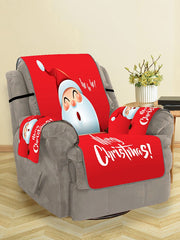 Cute Father Christmas Pattern Couch Cover